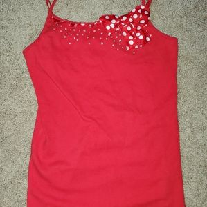 Like New Justice Tank Top with cute bow